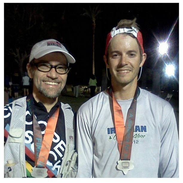 Me and Tim at the Finish