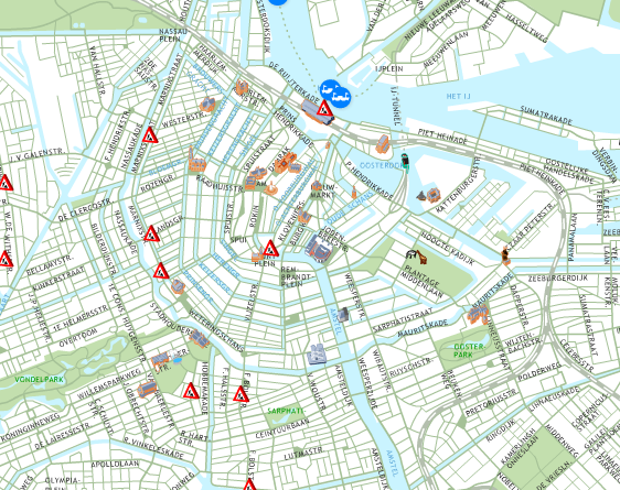 Amsterdam - OK, so the cycle routes follow the canals, but it looks like they were designed under the influence of mescaline...