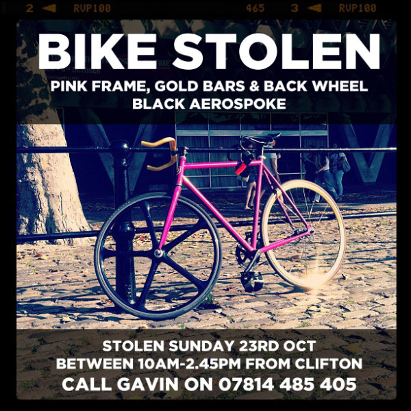 Whenever A Bike Is Stolen…