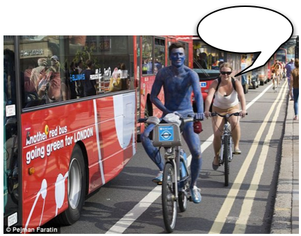 Friday Caption Contest: Cycling Superhighway Blue Edition
